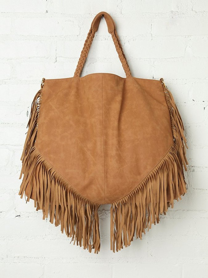 Free People Vegan Lou Fringe Tote