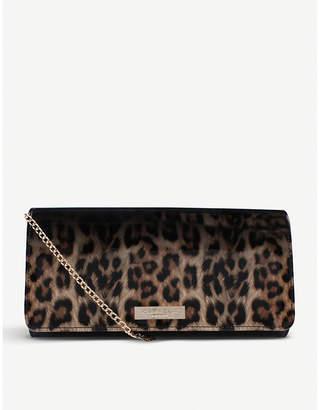 Carvela Alice leopard-print patent clutch