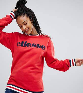 Ellesse Relaxed Sweatshirt With Large Flocked Logo