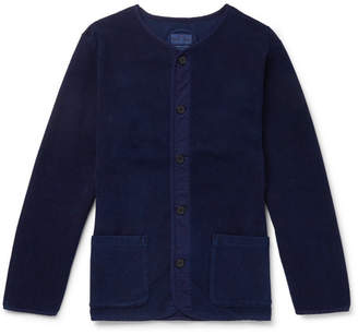 Blue Blue Japan Collarless Stretch-Cotton Terry Jacket