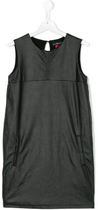 John Richmond Junior faux leather sleeveless dress