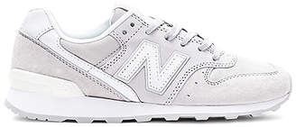 New Balance 696 Sneaker in Light Gray $80 thestylecure.com