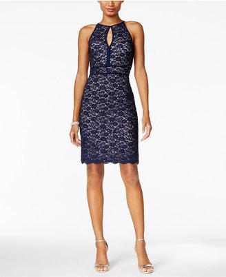 Nightway Lace Keyhole Sheath Dress $89 thestylecure.com