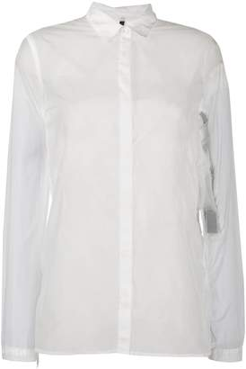Unravel Project sheer longline shirt