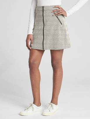 Gap Plaid Zip-Front Mini Skirt