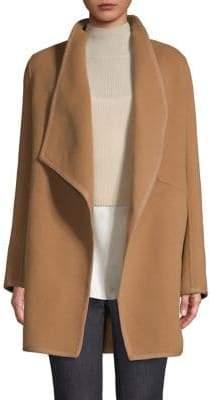 Elie Tahari Christina Double Face Wool Car Coat