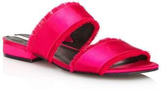 Kenneth Cole Women's Viola Satin Fringe Slide Sandals - 100% Exclusive
