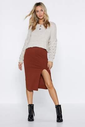 Nasty Gal Tight Future Ribbed Skirt
