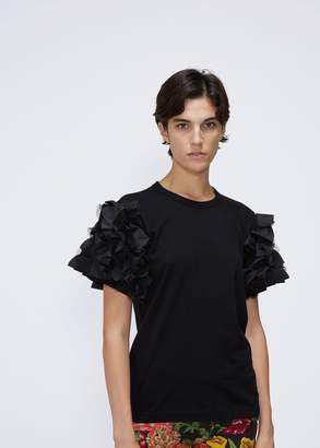 Comme des Garcons Short Sleeve Ruffle Tee