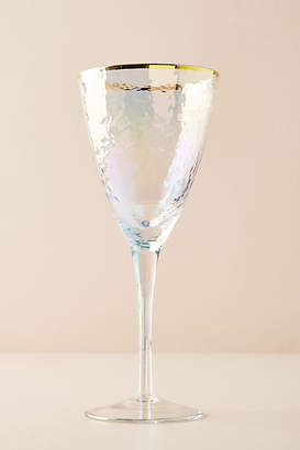 Anthropologie Lustered Wine Glass