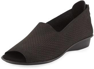 Sesto Meucci Eulah Perforated Zip Sandal, Black $149 thestylecure.com