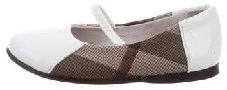 Burberry Girls' Patent Leather Exploded Check Flats