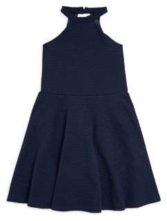 Un Deux Trois Girl's Halter Fit-&-Flare Dress