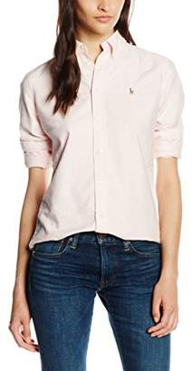 Polo Ralph Lauren Women's Shirt, Multicoloured (BSR PINK/WHITE CA132), 8