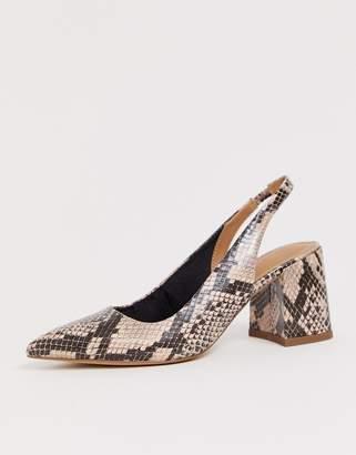 Asos Design DESIGN Samson slingback mid heels