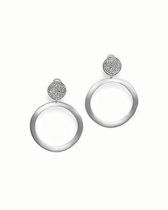 Ippolita Sterling Silver Glamazon® Stardust Pavé Diamond Hoop Drop Earrings - 100% Exclusive