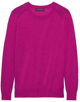 Banana Republic Silk Cotton Crew-Neck Sweater