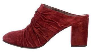 Coclico Suede Ruched Mules