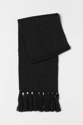 H&M Ribbed scarf - Black