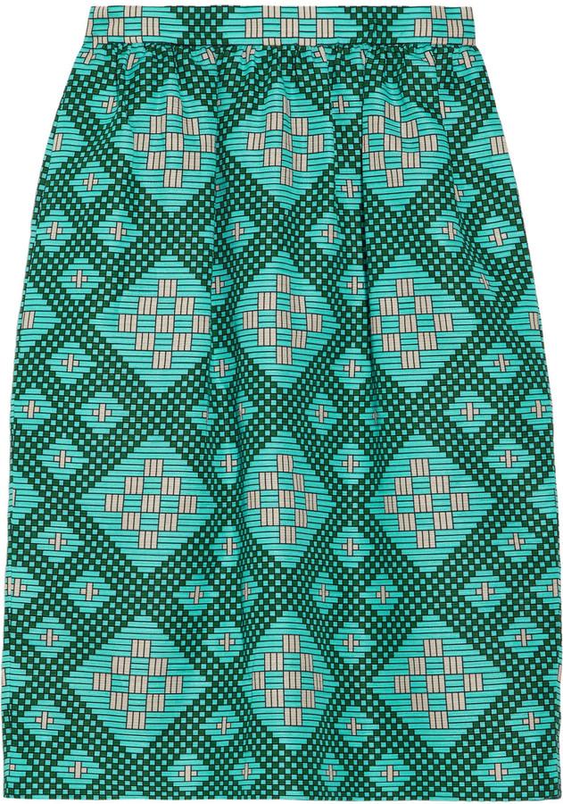 Jonathan Saunders Roselyn printed cotton-blend pencil skirt