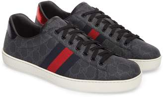 Gucci New Ace Webbed Low Top Sneaker