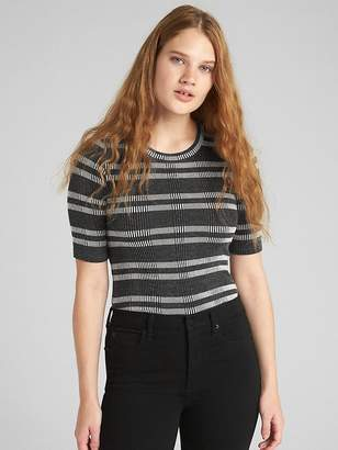 Gap Jacquard Ribbed Stripe Crewneck T-Shirt
