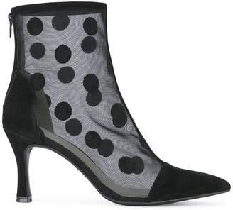 G.V.G.V. flocked mesh ankle boots