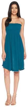 Three Dots Double Gauze Convertible Dress Women's Dress