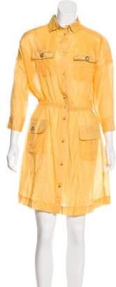 Dolce & Gabbana Short Sleeve Knee-Length Dress