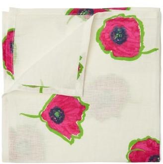 La Doublej - Floral Print Linen Napkin Set - Womens - White Multi