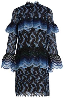 Erdem Lyndell scallop-edged guipure-lace dress