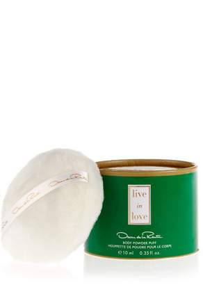 Oscar de la Renta Live In Love Body Powder Puff