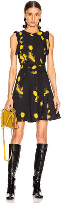 Proenza Schouler Belted Print Dress in Yellow & Black | FWRD