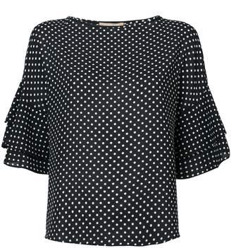 Michael Kors polka dot blouse