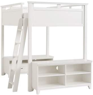 Pottery Barn Teen Hton Loft Bed Set, Full, Simply White