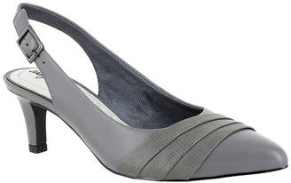 Easy Street Shoes Womens Baker Pumps buckle up Pointed Toe Spike Heel