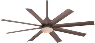 "Minka Aire Ceiling Fans Minka Aire 65"" Slipstream 8 Blade Ceiling Fan with Remote, Light Kit Included"