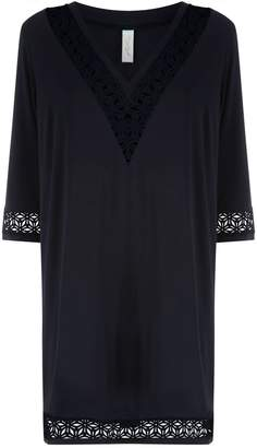 Gottex Embroidered Tunic Dress