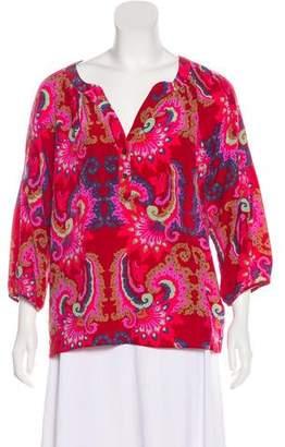 Tibi Silk Paisley Top