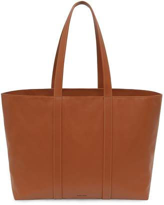 Mansur Gavriel Calf East West Tote - Saddle