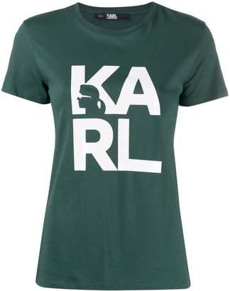 Karl Lagerfeld Paris logo print T-shirt