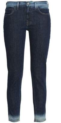 Victoria Beckham Victoria Cropped Faded Mid-Rise Slim-Leg Jeans