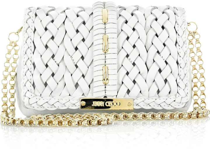 Jimmy Choo Cecile woven-leather bag