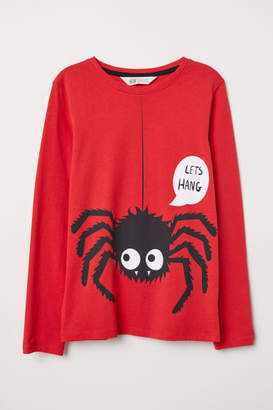 H&M Shirt with Printed Design - Red