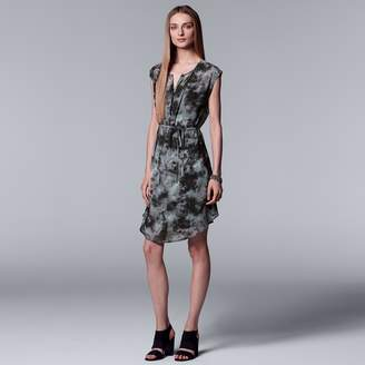 Vera Wang Women's Simply Vera Printed Pleat Dress