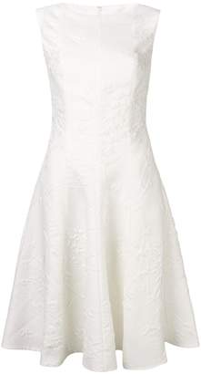 Talbot Runhof jacquard flared midi dress