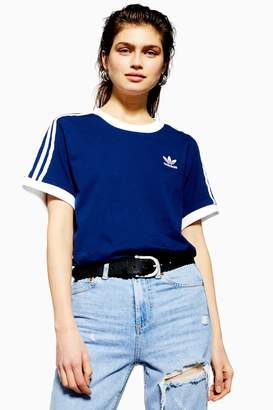 fc00f590 adidas Womens Three Stripe T-Shirt By Blue