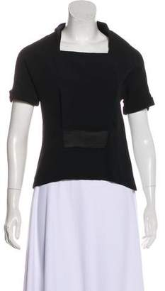 Balenciaga Pleated Short Sleeve Top