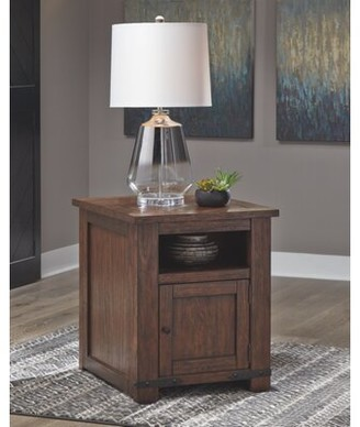 Millwood Pines Dumont End Table with Storage Millwood Pines