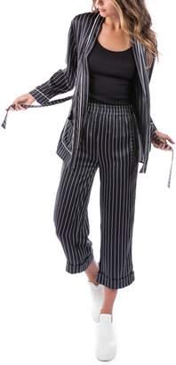 Rag Doll RAGDOLL Pinstripe Silk Pajama Top
